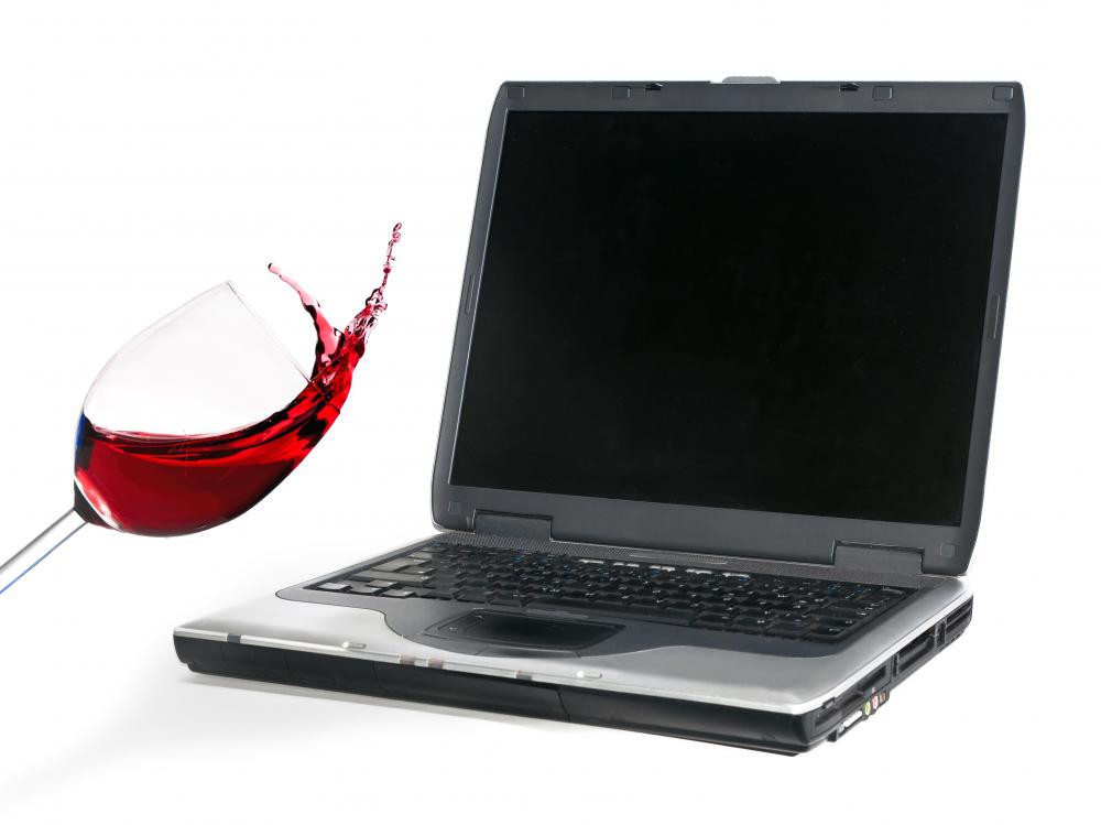 When an electronic device, such as a laptop, comes in contact with a liquid, a water damage indicator will change color.