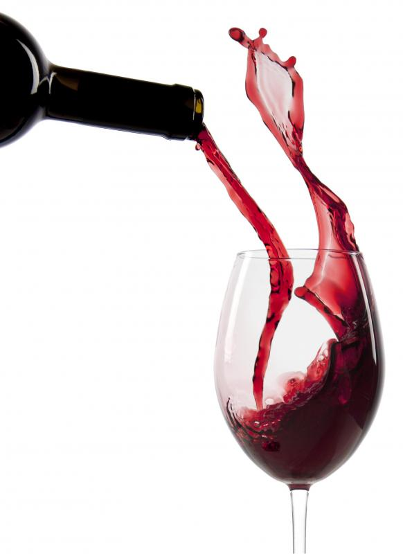Red wine's taste and color is partly due to polyphenols.