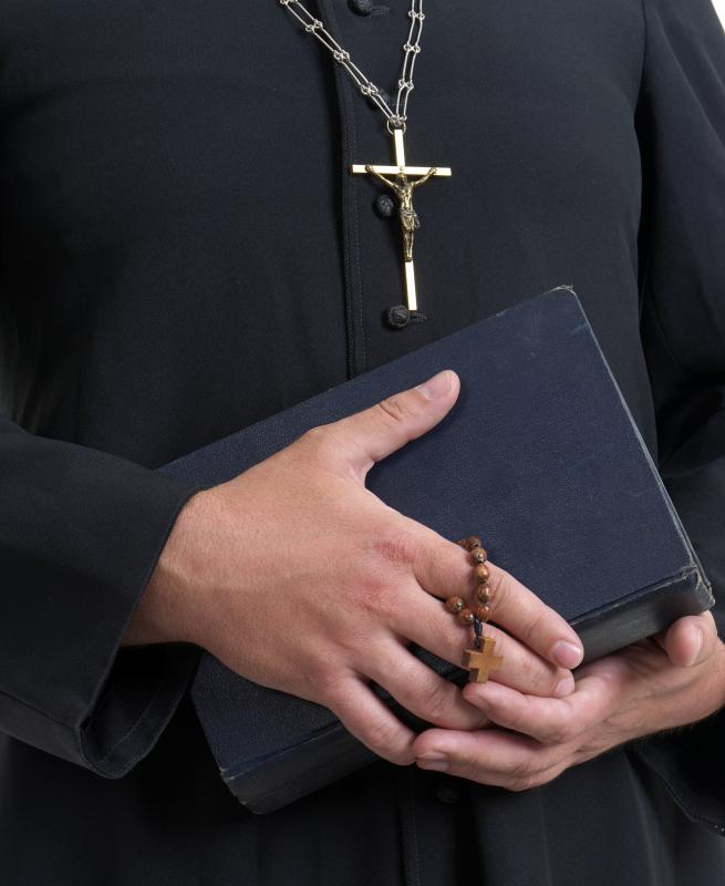 A couple may receive marriage counselling from a priest.