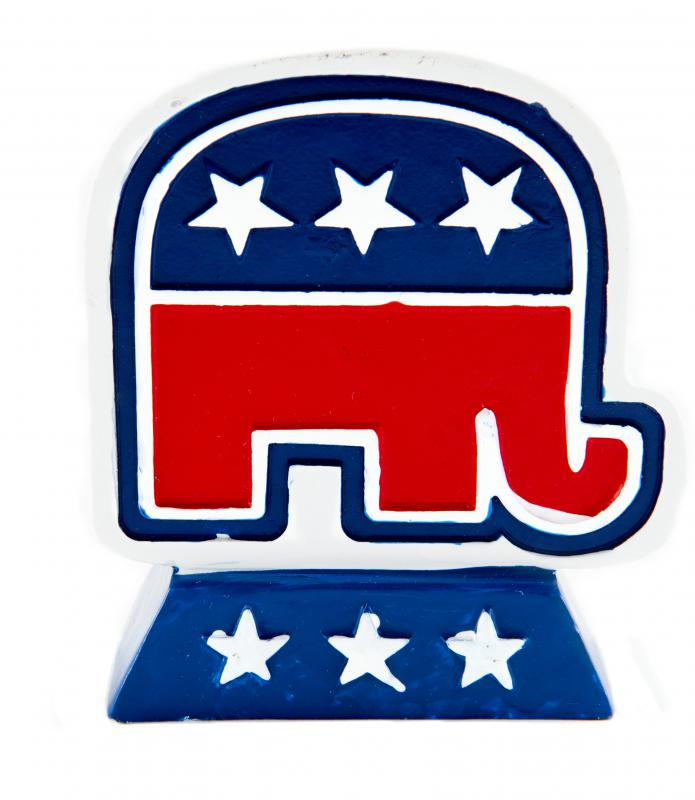The elephant is used as the logo of the Republican Party.