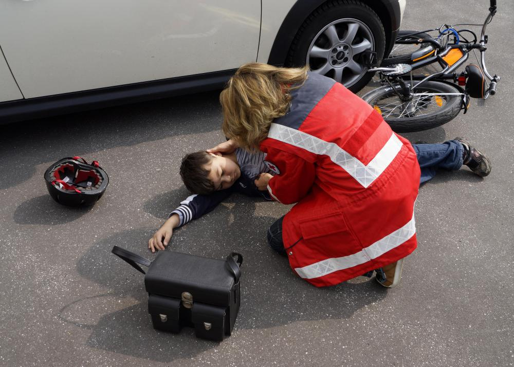Medical help should be acquired after a bike accident.