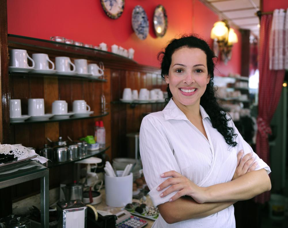 A small businesses entrepreneur is responsible for opening and running a business.