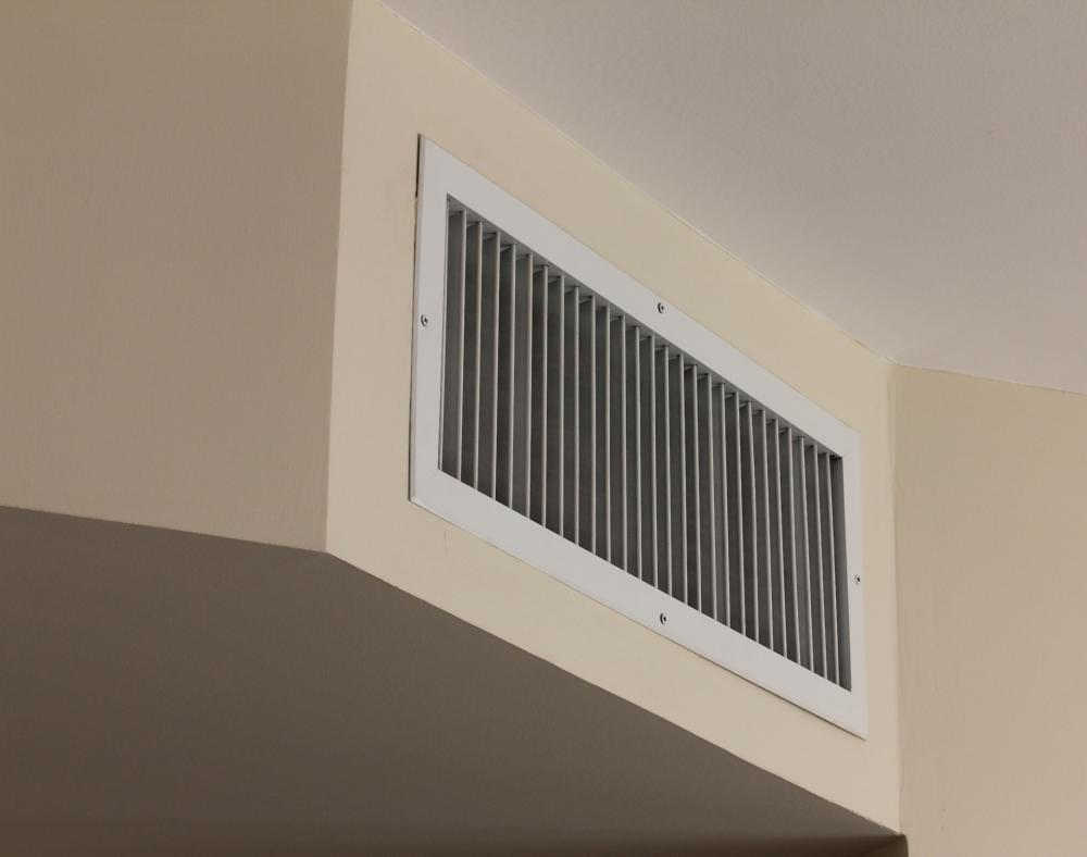 A Return Vent Is Located On An Interior Wall