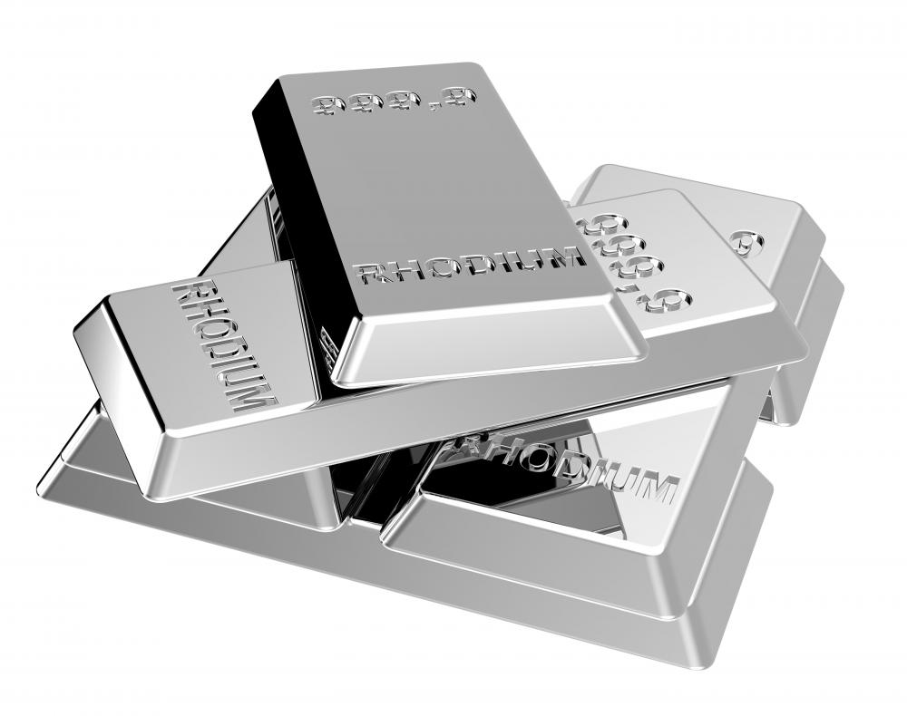 Rhodium may be applied as plating to to preserve the luster of pieces.