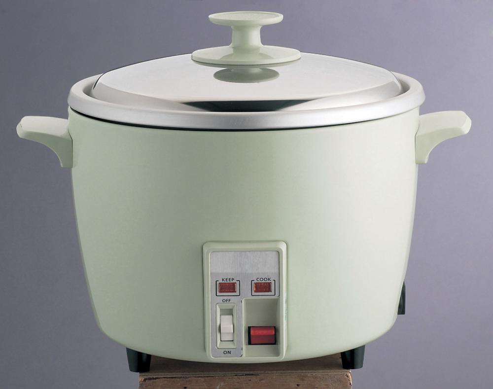 A small rice cooker.