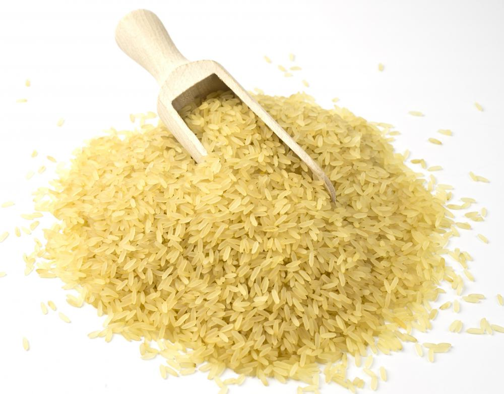 Parboiled brown rice is used to make converted rice.