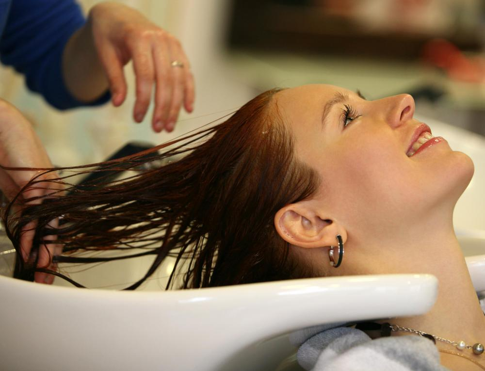 Hair washing services may be offered at a hairdressing salon.