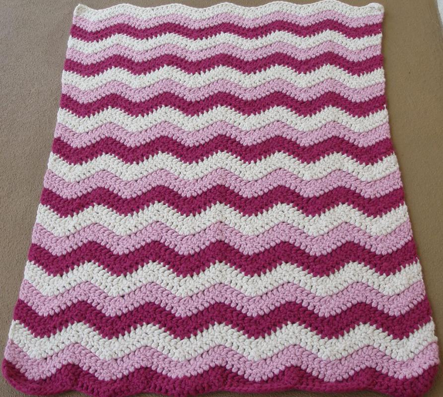 Free Pattern For Single Crochet Ripple Afghan : How do I Crochet a Ripple Afghan? (with pictures)