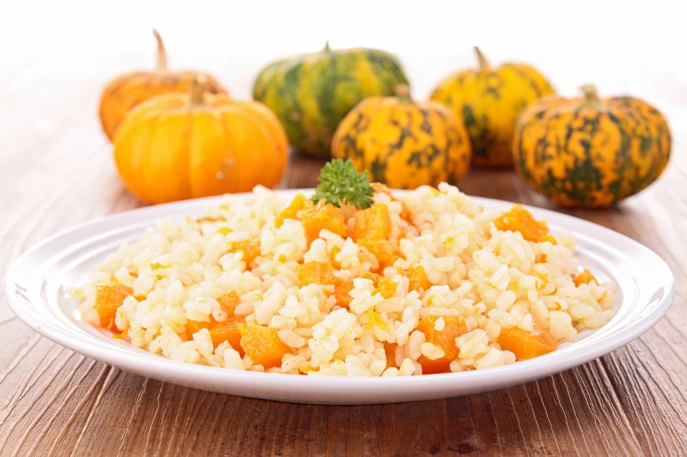 Arborio rice is used in risotto dishes.