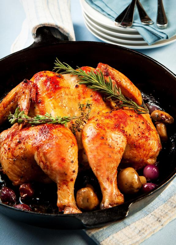 Roasted turkey and chicken both contain tryptophan.