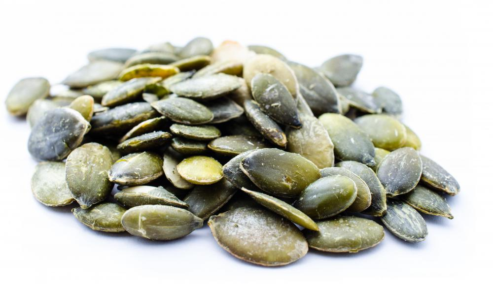 Pumpkin seeds are high in fiber.
