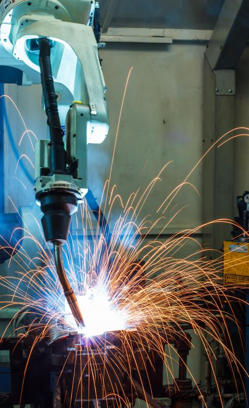 Arc welding uses an electric arc to generate heat and melt metal.