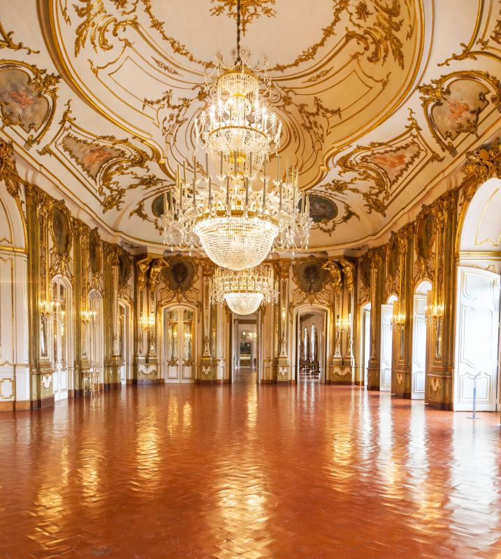 Ballrooms were originally built in private homes.