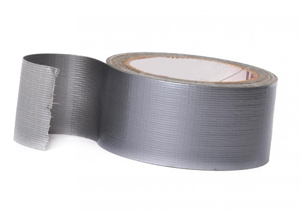 Duck tape employs a fabric adhesive backing coated with plastic.