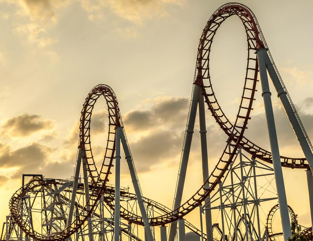 Roller coasters have evolved considerably since their days as a glorified slide, and are a prime attraction for thrill seekers.