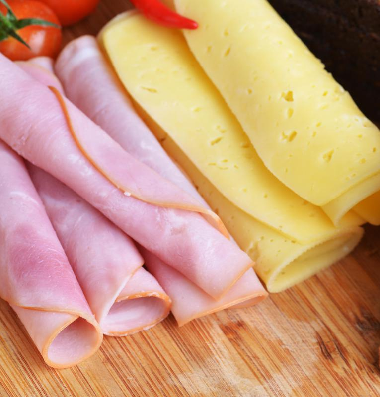 Ham and cheese are classic cold sandwich ingredients.