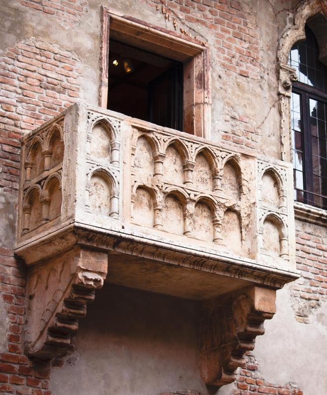 Juliet's balcony was located in Verona, Italy.