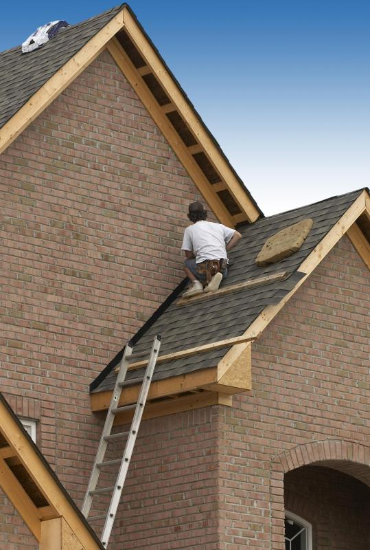 Composition asphalt shingles are the most common roof cladding in the United States.