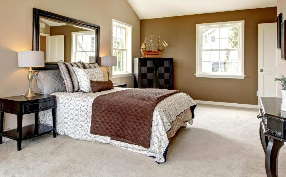 Master bedrooms usually are larger than other bedrooms and serve as quarters for a home's owners.