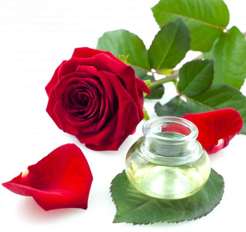 Rose water is often included in herbal body wraps.