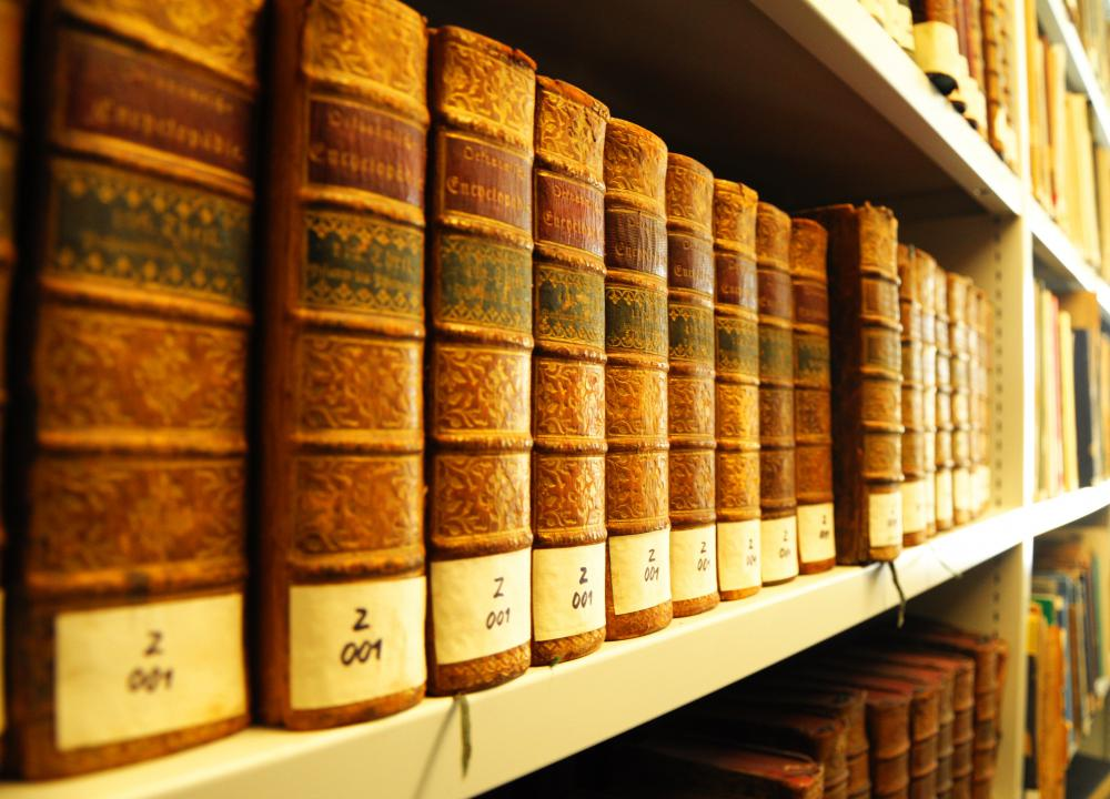 Encyclopedias, a type of reference book.