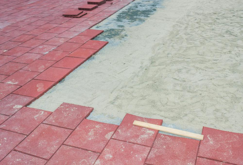 Rubber pavers are newer development that are made from recycled rubber.
