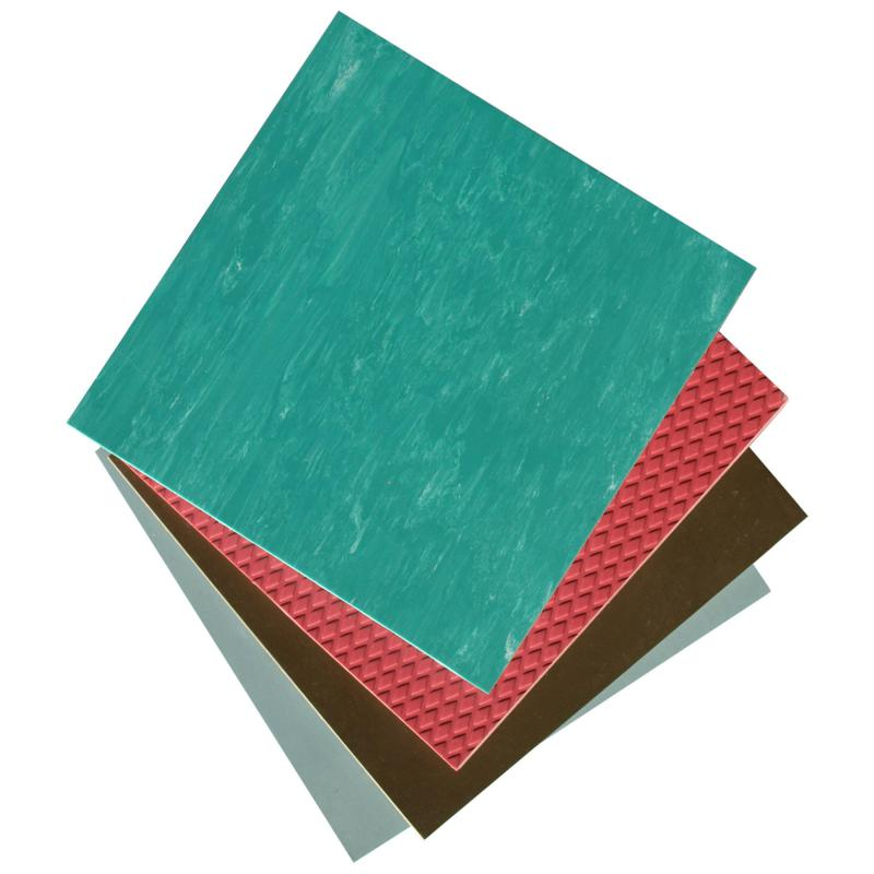 Linoleum comes in sheets or in square tiles.