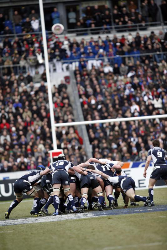 The flying wedge is banned by the UK Rugby Union.