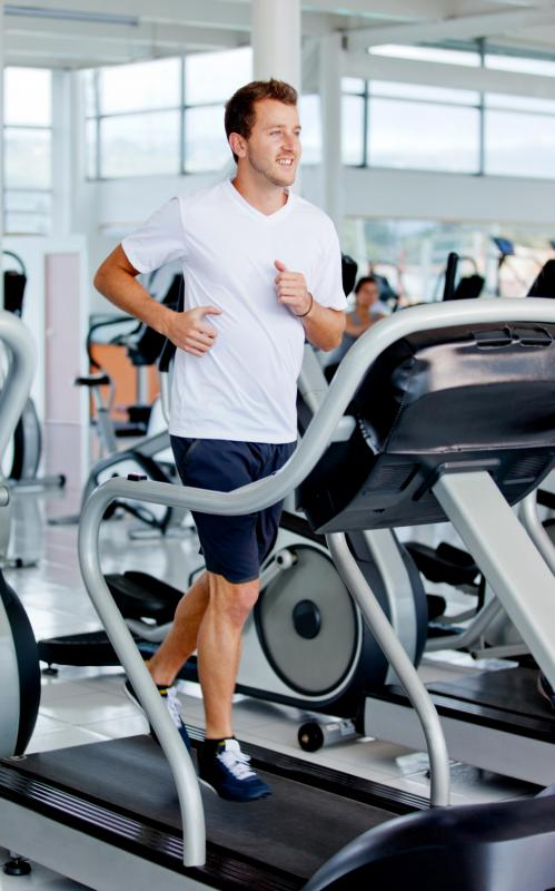 Running on a treadmill may be included in cardio circuit training exercises.