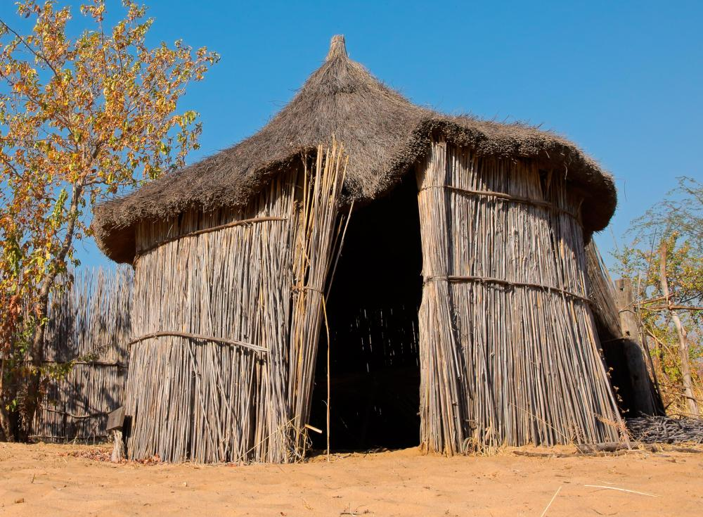 Basic thatched roofs are common in Africa, Haiti and a number of other areas.