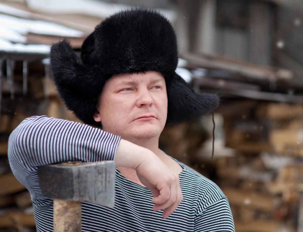 An ushanka is a type of man's hat that features ear flaps.