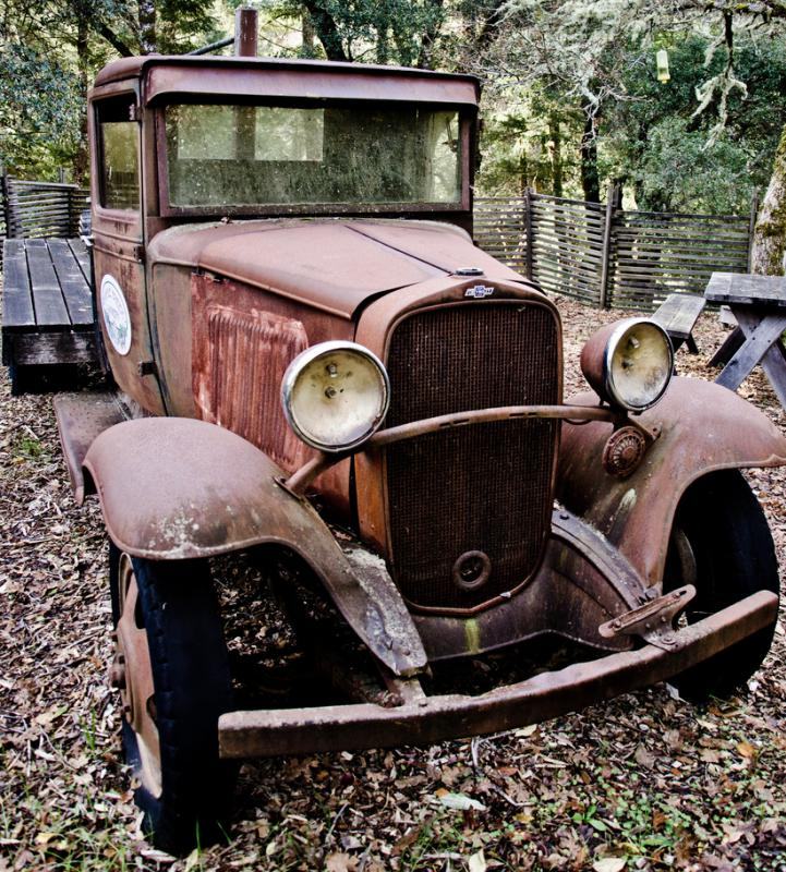 Electric sanders can remove rust from old cars.