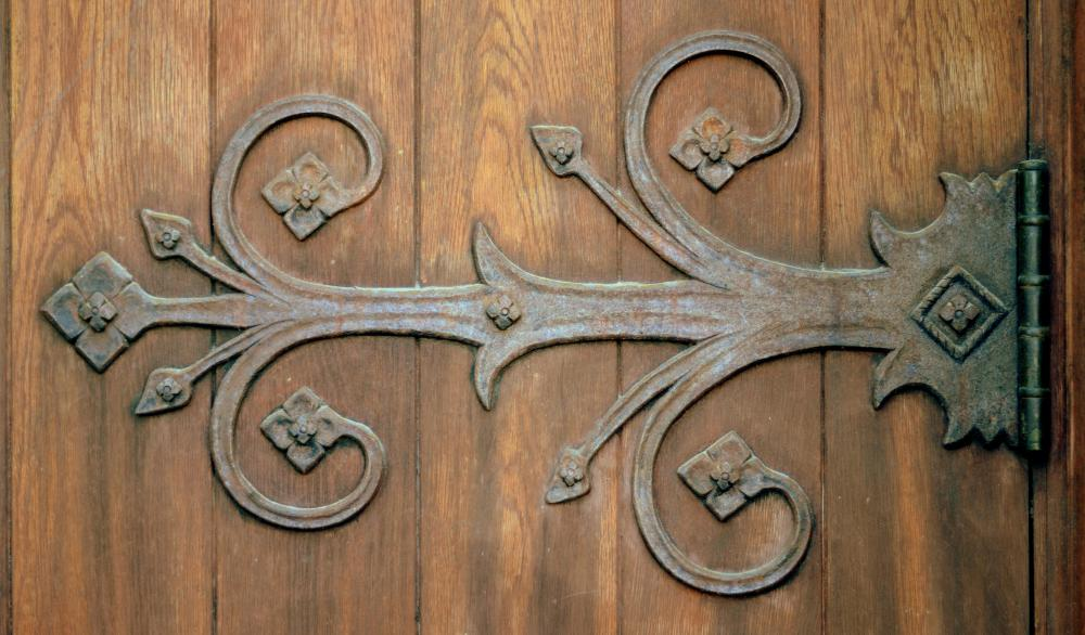 Butt hinges are the traditional type of hinge commonly seen on doors.