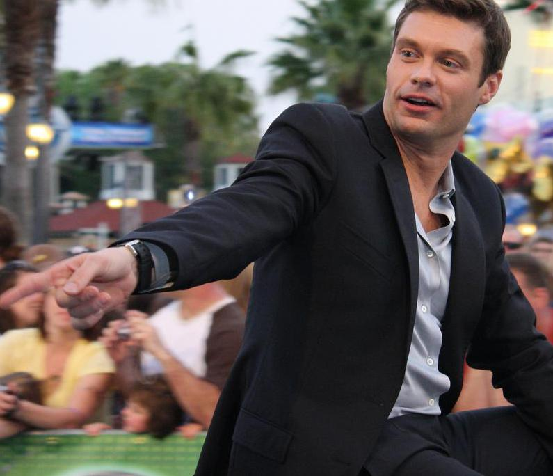 Ryan Seacrest is an example of a famous radio show host who can help command expensive advertising rates.