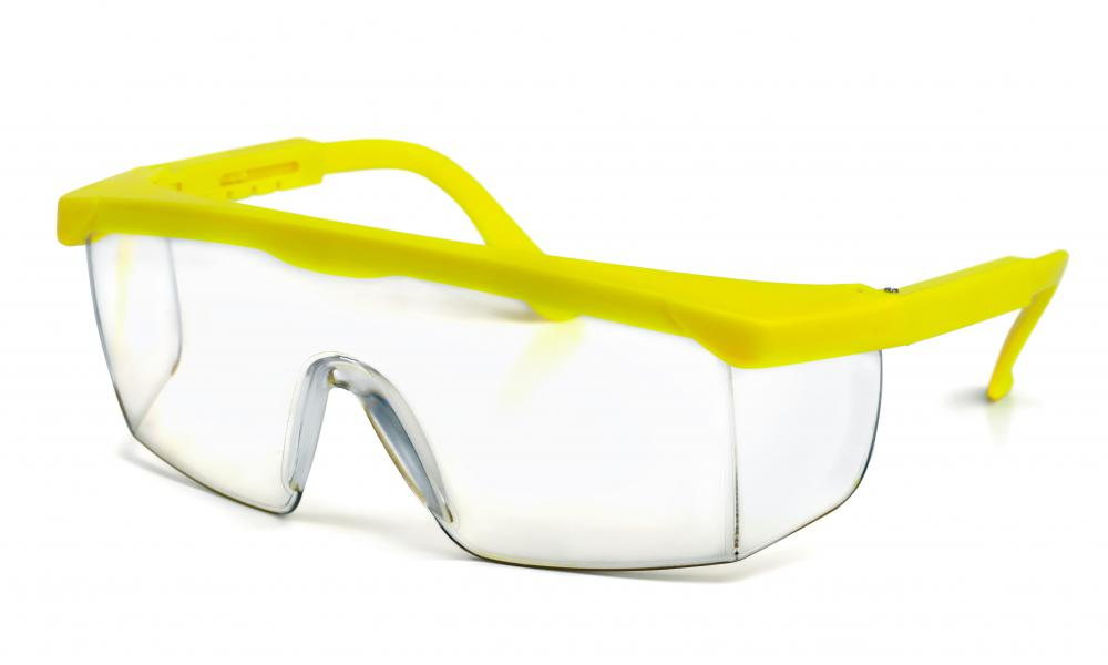 Safety equipment, such as safety goggles, should be considered for a garage workshop.