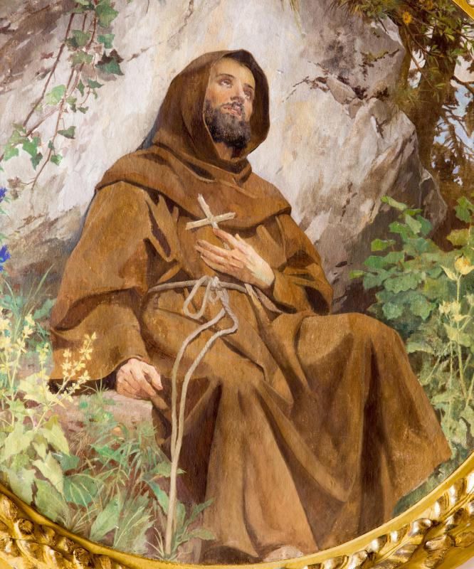 St. Anthony was drawn to another Roman Catholic saint, St. Francis.