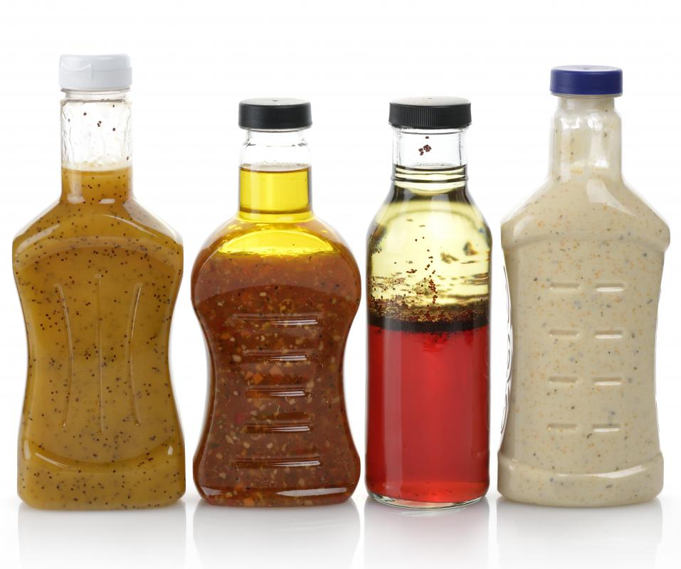 Vinegar-based salad dressings are commonly used with Vietnamese beef salads.