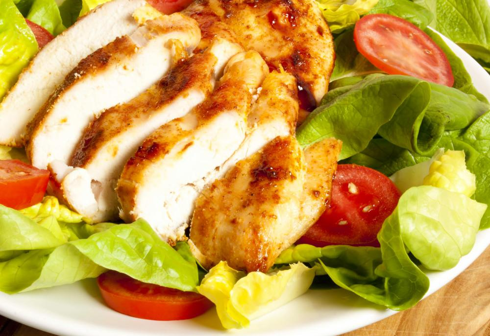 Boston lettuce can be added to a main dish salad made with other fresh greens and grilled chicken breast.