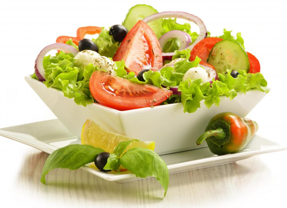 Salads make a delicious snack.