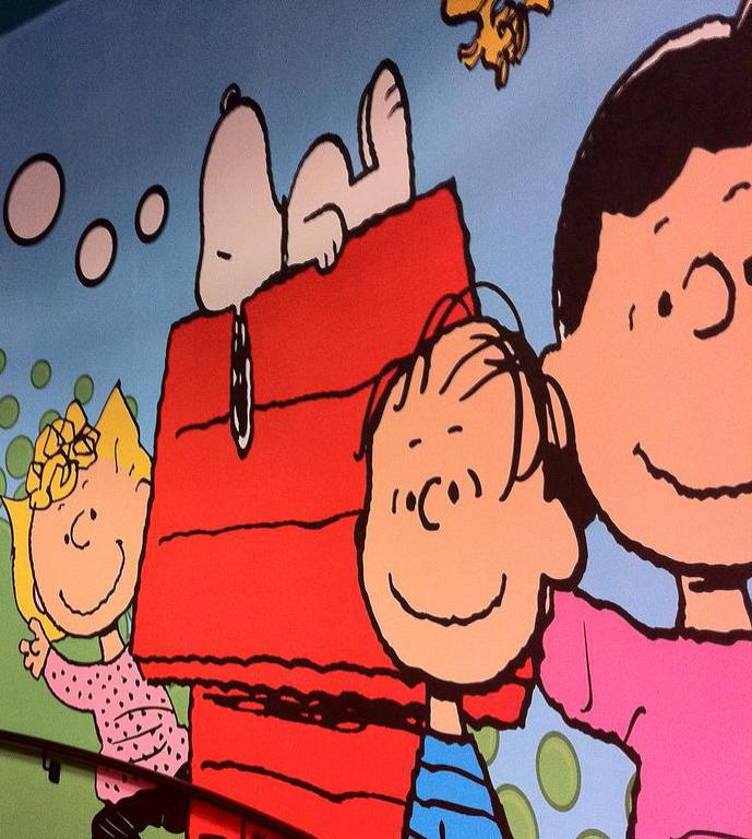 The Peanuts cartoon strip began appearing in newspapers in the 1950s.