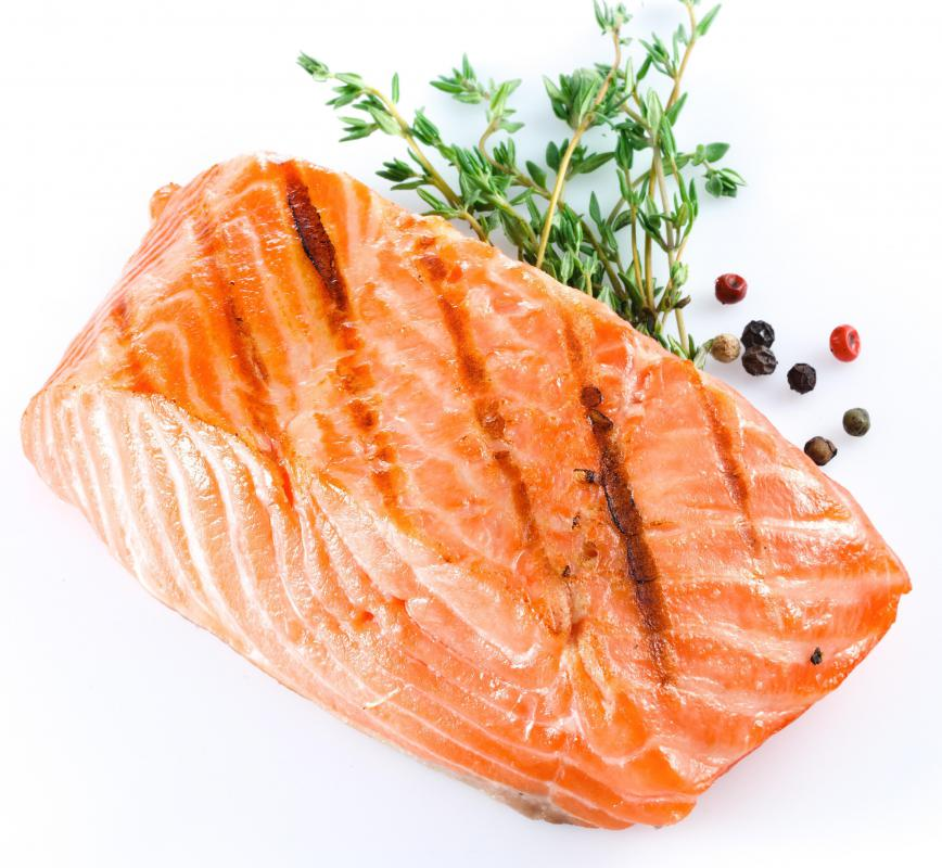 Cold water fish like salmon and trout are a reliable source of fatty acids.
