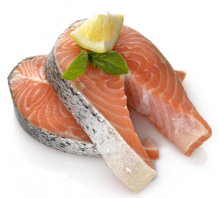 Salmon is low in calories and offers heart healthy benefits.