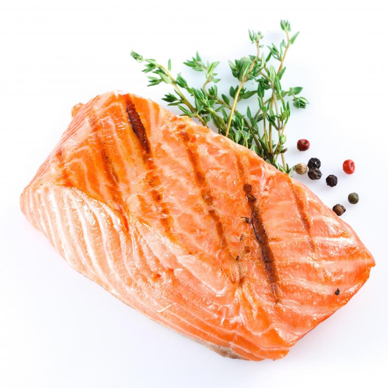 Salmon is a good food source of Vitamin D.