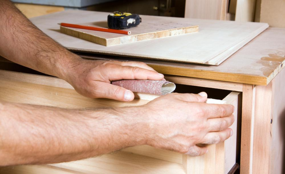 A carpenter's job may consist of building furniture.