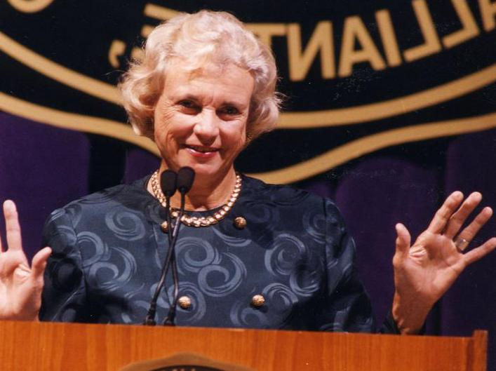 Retired Supreme Court Justice Sandra Day O'Connor was the first woman appointed to the court.