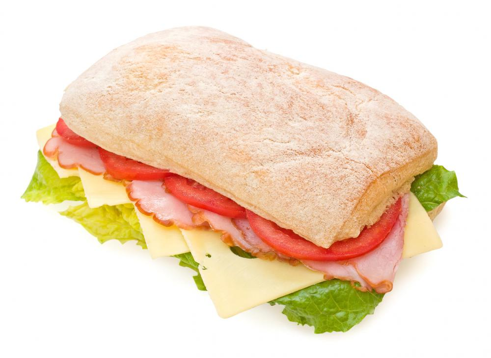 A sandwich made with kosher Swiss cheese.