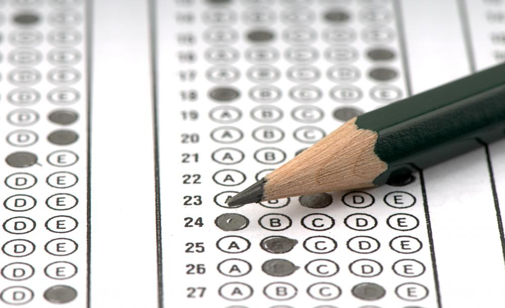 Many questions on the SAT are multiple choice.