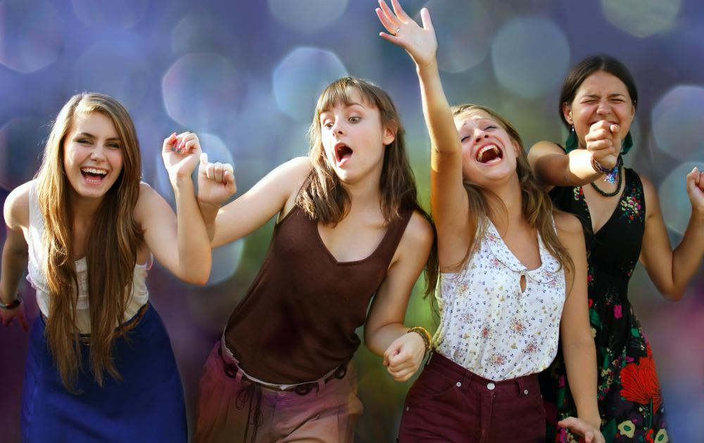 Group dances are commonly performed at school dances.