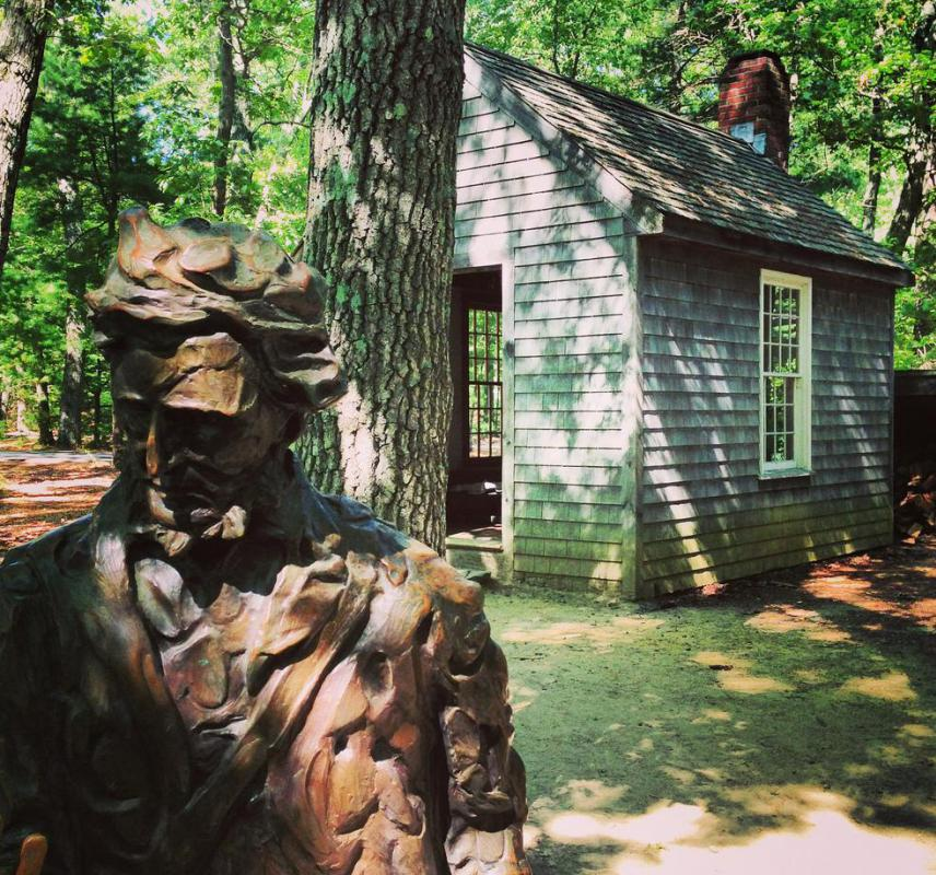 Henry David Thoreau lived in a cabin on Walden Pond for two years.