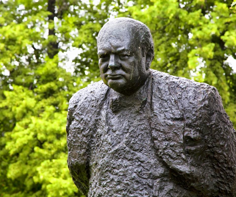 Sculpture of Winston Churchill, Prime Minister of the United Kingdom from 1940 to 1945 and again from 1951 to 1955.